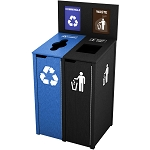 The Chesterfield Double Recycling Station - Custom