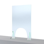Sneeze Shield w/Arch Opening 24 x 36