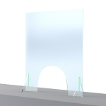 Sneeze Shield w/Arch Opening 30 x 36