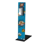 Zap! Boom! Comics Sani-Station - Stainless Steel Automatic Dispenser Included