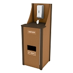 4 Gallon Welcome Station | Stainless Steel Dispenser | Caramel/Brown