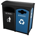Amherst Sideload Double Recycling Station | Weatherwise