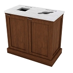 The Imperial Double Recycling Station in Cherry Maple