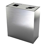 The Premier Double Recycling Station - Brushed Aluminum