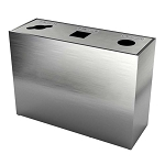 The Premier Triple Recycling Station - Brushed Aluminum