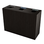 The Premier Triple Recycling Station - Black Walnut