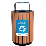 City Urban Recycled Plastic Recycling Barrel