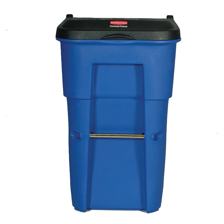 BRUTE Rollout Recycling Bin 65 Gallon Container Recycle Away