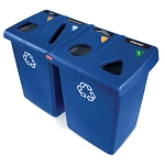 Rubbermaid Glutton Four Stream Recycling Station