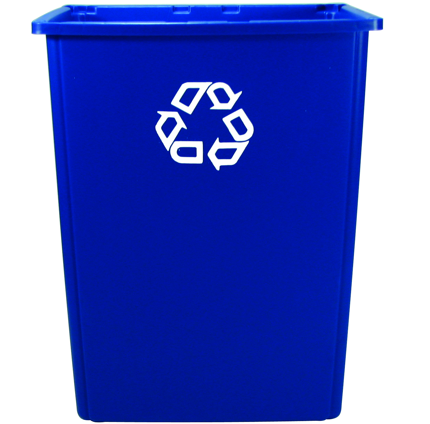 blue rubbermaid glutton recycling container 56 gallons recycle away. Black Bedroom Furniture Sets. Home Design Ideas