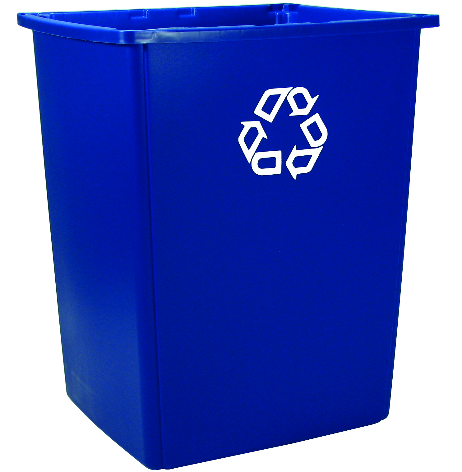Blue rubbermaid glutton recycling container 56 gallons recycle away - Home depot recycling containers ...