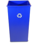 50-Gallon Untouchable Square Recycling Container