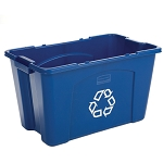 18 Gallon Recycling Box in Blue