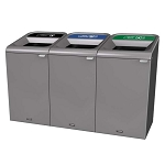 Configure Three-Stream Recycling Station in Gray