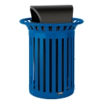 35 Gallon Slat Recycling Bin with Roto Molded Lid