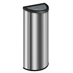 8 Gallon Indoor Crescent Trash Can with Black Rim