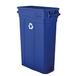 23-Gallon Resin Slim Recycling Can with Handles