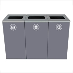 Spectrum 3-Stream Triple Cube Recycling Station | Gray