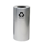 Aluminum Receptacle with Plastic Liner - 24 Gallon