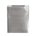 Celestial 40 Gallon Stainless Steel Receptacle with Perforated Design