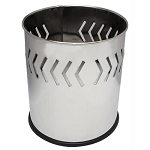 Small Round Executive Wastebasket- Arrow Band pattern