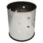 Small Round Executive Wastebasket- Square pattern