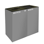 GeoCube Two-Stream Recycling Station | Double Slate