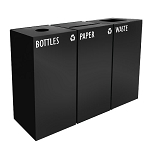GeoCube Three-Stream Recycling Station with Liners