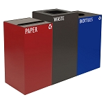GeoCube Three-Stream Recycling Station | Custom