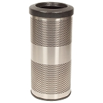Stadium 10 Gallon Perforated Waste Receptacle in Stainless Steel