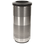 Stadium 20 Gallon Perforated Waste Receptacle in Stainless Steel
