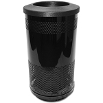 Stadium 35 Gallon Perforated Waste Receptacle with Flat Top