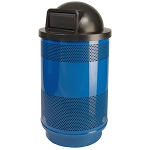 Stadium 55 Gallon Perforated Waste Receptacle with Dome Top