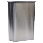 Modern Stainless Steel Rectangular Wastebasket
