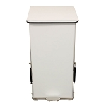 24 Gallon Square Step-on Metal Receptacle in White