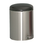 Industrial Step On Receptacle in Stainless Steel - 4 Gallon