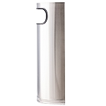 Stainless Steel Half Round Waste Container- 9 Gallons