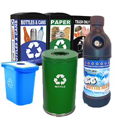 Recycling Bins for Bottles and Cans