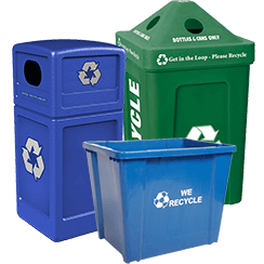 Outdoor Plastic Recycling Bins