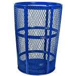Expanded Metal Outdoor Waste in BLUE