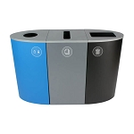 Spectrum 3-Stream Recycling Station | Blue-Gray-Black