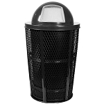Expanded Metal Outdoor Waste BLACK | Dome Top with Liner