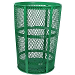 Expanded Metal Outdoor Waste in GREEN