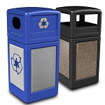 StoneTec Waste & Recycling Combo with Dome Lids