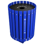 Posted Recycling and Waste Barrel with Lift Off Lid