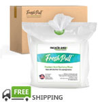 FreshPull 70% Alcohol Sanitizing Wipes (4 rolls per case)