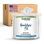 HanoWipes 80% Alcohol Sanitizing Wipes 4-Rolls/4000-Wipes per case
