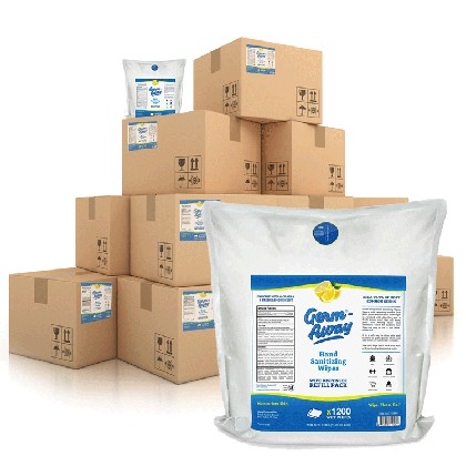 GermAway Sanitizing Wipes 12-Case / 24-Roll Bulk Bundle