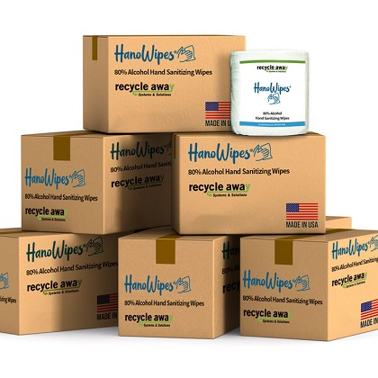 HanoWipes 6-Case Bulk Bundle Hand & Surface Wipes 24-rolls / 24000-sheets
