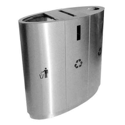 EcoTrio Stainless Steel Recycling Container